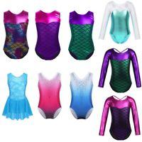 Girls Gymnastics Leotards Ballet Dance Unitard Sports Bodysuit Kids Dancewear