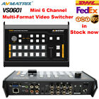 Avmatrix VS0601 Mini 6 Channel SDI/HDMI Multi-format Video Switcher with T-Bar