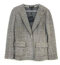 St. John Collection Women's Aluna Tweed Knit Jacket Sz 10 Double Breasted NEW