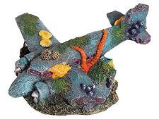 Sunken Aircraft Plane Wreck Decoration Ornament for Aquarium Fish Tank