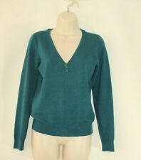 Turquoise Knitted CUBUS Long Sleeve Slouch Casual Top Sweater Jumper Size M