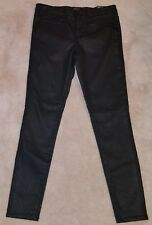 NWT Mossimo Shiny Black Skinny Jeans Pants Size 00 24 R Mid Rise Super Stretch