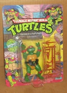 1988 TEENAGE MUTANT NINJA TURTLES TMNT RAPHAEL FIGURE MOC PLAYMATES