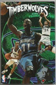 1997-98 Minnesota Timberwolves NBA Basketball Media Guide Kevin Garnett