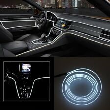 2M 12V Car LED EL Wire White Cold light lamp Neon Lamp Interior Atmosphere Light