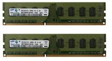 KIT RAM 4GB 2X 2GB DDR3 2RX8 PC3-10600U 1333MHz MEMORIA PC3-10600 240PIN SAMSUNG