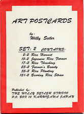 Original Early 1940's WILLY SEILER Art Postcard Set 2 (6 Total), Karuizawa Japan