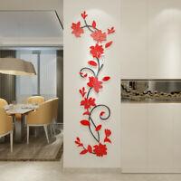 3D Flower Decal Vinyl Decor Art Home Living Room Wall Sticker Removable Mural