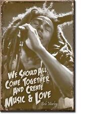 Bob Marley Music and Love USA Magnetschild Magnet