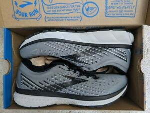 Brooks Ghost 11.5 Grey Black Running Walking Athletic Shoes Mens Size 11.5