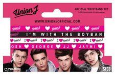 Union J  Bracelets Wristband Pink White Bundle Official New Music Pop Band