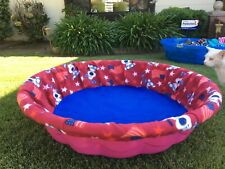 """Large Fleece Whelping Pool Box Cover for Litters - Puppies - Kiddie Pool 36"""" Usa"""