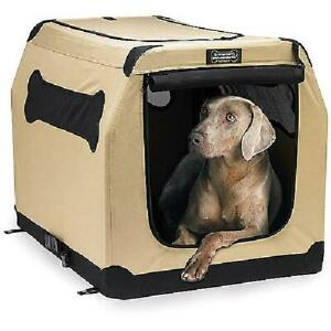 Dog Crate Kennel Soft Fabric Travel Portable Collapsible Best Brand Portable L