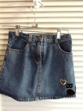 GYMBOREE GIRLS SZ 7 Embellished Blue Jean Skirt