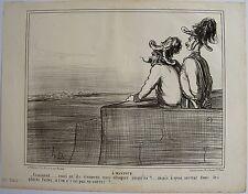 DAUMIER LITHOGRAPHIE ORIGINALE TIRAGE SUR BLANC, ACTUALITÉS N° 84, 1859