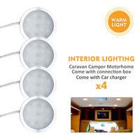 4X 12V Warm White Caravan Camper Trailer Car Boat LED Down Light Ceiling Lamp