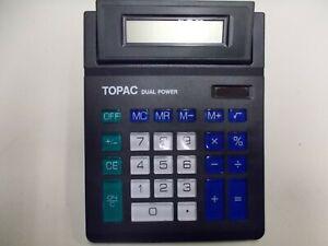 Topac Dual Power Solar Calculadora de Bolsillo, Grandes Teclas, #K-84-36