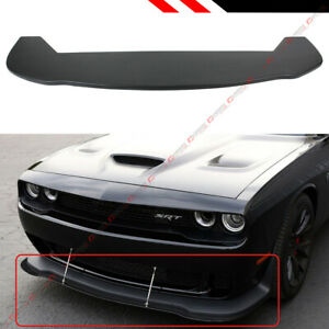FOR 2015-2018 DODGE CHALLENGER SRT HELLCAT PP ADD-ON FRONT BUMPER LIP SPLITTER