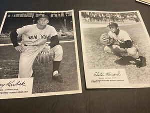 1960's NEW YORK YANKEES RAWLINGS ADVISORY MEMBER GLOSSYS~TONY KUBEK~ELSTON HOWAR