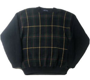 Vintage Tommy Hilfiger Mens Sz XL Pullover Sweater Tartan Plaid Crew Neck