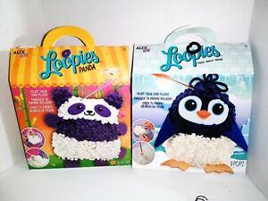 "Alex D.Y.I. LOOPIES  ""Panda"" + ""Penguin"" Fluff & Make Your Own Plush!"