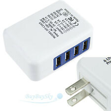 2.1A 4 in 1 Port USB Portable Home Travel Wall Charger US Plug AC Power Adapter