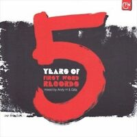 NEW 5 Years Of First Word Mixed By Andy H & Gilla (Audio CD)