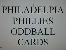 PHILADELPHIA PHILLIES  - 50 DIFFERENT ODDBALL cards