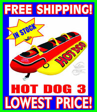 AIRHEAD HOT DOG 3 Person Towable Tube  NEW HD-3 Red Yellow FAST SHIPPING