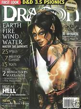 D&D d20 3rd Edition Dungeons & Dragon Magazine #314 Elements Psionics Warbands!