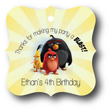 24 Angry Birds Birthday Party Favor Tags