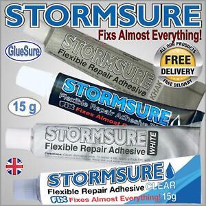 STORMSURE 15G FLEXIBLE WATERPROOF REPAIR ADHESIVE GLUE TENT WADERS RIPS HOLES