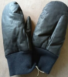 COS LEATHER PADDED MITTENS, BRAND NEW, SIZE S/M