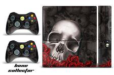 Skin Decal Wrap for Xbox 360 E Gaming Console & Controller Sticker Design BONE B