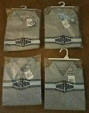 Lot of 4 New School Uniform Boys Ss Polo Shirts-Gray-Size 10 -Authentic Galaxy