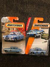 Matchbox '56 Buick Century Police Car And '51 Hudson Hornet