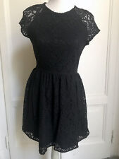 Abito pizzo nero H&M black lace dress EU40 IT44 UK12