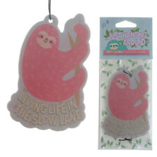 SLOTH AIR FRESHENER LIVING LIFE IN THE SLOW LANE PINK CUTE STRAWBERRY SMELL