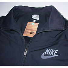 NWT 2008 MENS BLACK NiKE RETRO SWOOSH LOGO FULL ZiP TRACK WARMUP JACKET M MEDiUM