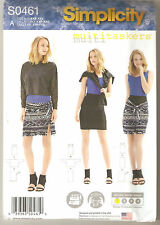 Simplicity Sewing Pattern 0461 / 1257 Miss Knit Tank Top Sarong Sz 4-26
