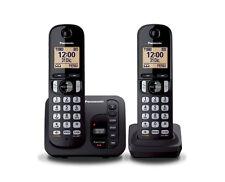 Panasonic KX-TGC222 Duo DECT-Schnurlostelefon mit AB  schwarz wie NEU !!!!!