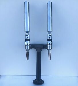Beer Tap Tower Double Faucet Plumbed Valpar hose Push fit connector Home Bar