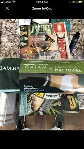 Gaiam Thirsty Yoga Mat Towel Drying Moisture Wick Absorbent NEW