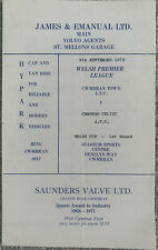 More details for cwmbran town v cwmbran celtic welsh cup 1st round 1972/73