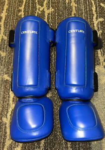 Century martial arts sparring unisex blue Size S/M Shin instep Guards