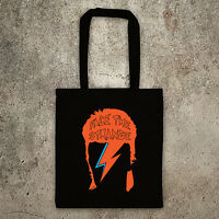 Like David Bowie face the strange Ziggy stardust Aladdin Sane tote bag, shopper