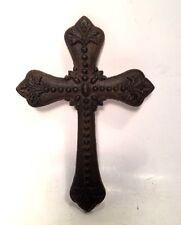 Cross Christian Crucifix Cast Iron Gothic Wall Hanging New Vintage Style