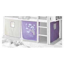 Rideaux PRINZESSIN pour lit surélevé, lilas/blanc