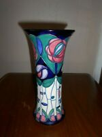 "Moorcroft vase - 159/10 - Tribute to Mackintosh - Rachel Bishop - 10"" /25cm Tall"