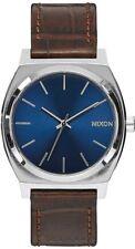 Round Nixon Time Teller Silver Band Wristwatches